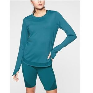 Athleta Cadence Top in Coastal Teal